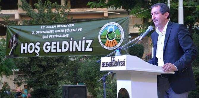 """BELEN BELEDİYESİNDEN """"MUHTEŞEM İNCİR VE ŞİİR FESTİVALİ"""""""