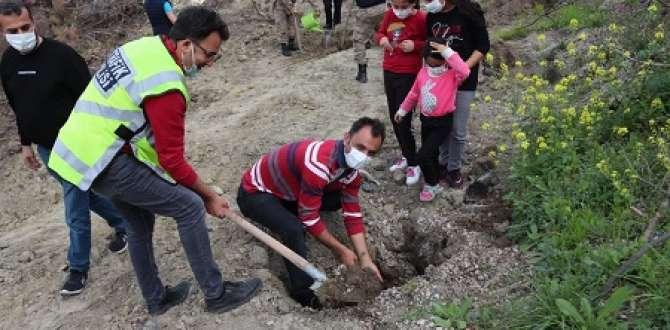 Belen Polis Teşkilatı Fidan'ları Toprakla Buluşturdu