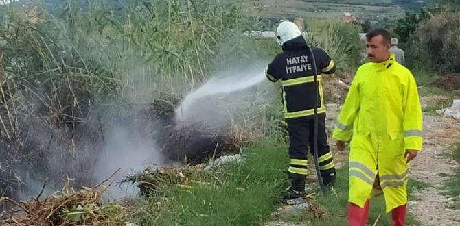 Samandağ'da bahçe yangını