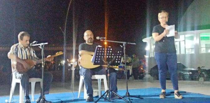 Samandağ'da şiir dinletisi