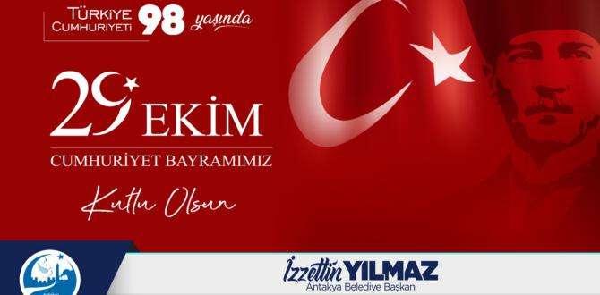 İzzettin Yılmaz: 29 Ekim Cumhuriyet Bayramı'mız kutlu olsun