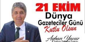 """Başkan Yavuz: """"21 Ekim Dünya Gazeteciler Günü kutlu olsun"""""""