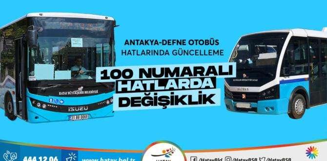 Antakya-Defne otobüs hatlarında güncelleme