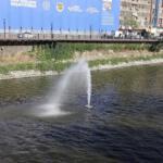 HBB Asi Nehri'ne ışıklı fıskiyeler monte etti
