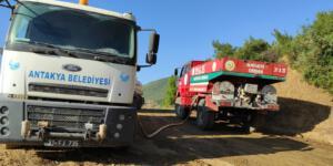 Antakya Belediyesi'nden yangın bölgelerine tam destek